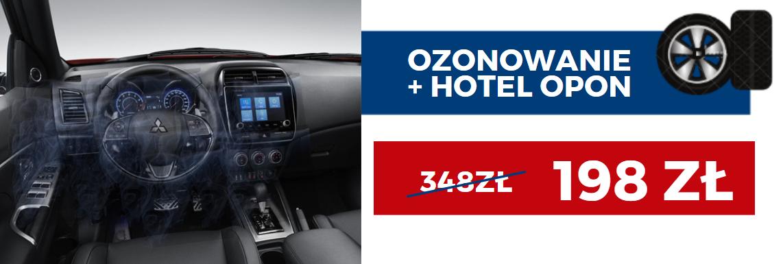 Promocja na ozonowania auta i hotel dla opon